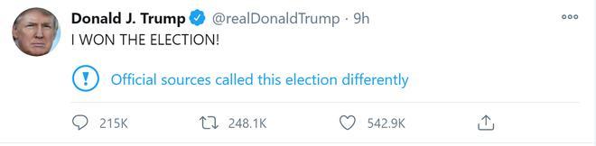 Ông Trump tuyên bố 'tôi đã thắng' 2 lần trong vòng chưa đầy 24h, nhiều người vẫn ủng hộ nhiệt tình 2