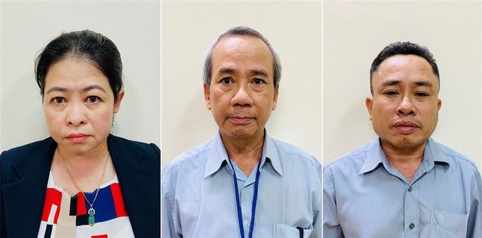 Các bị can từ trái sang phải: Phan Thị Thùy Trang; Nguyễn Như Việt; Nguyễn Đăng Thuần - Ảnh: Bộ Công an