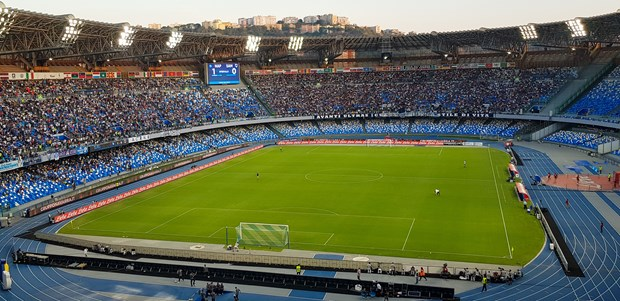 Sân vận động Stadio San Paolo của Napoli. (Ảnh: Wikipedia)