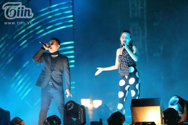 Lưu Hương Giang và rapper Hoàng Phong.