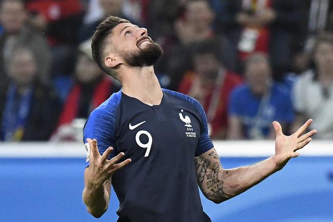Giroud không sút trúng đích lần nào tại World Cup 2018