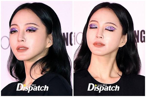 Bên cạnh đó, màu son tông cam đất cũng giúp 'trung hòa' được màu mắt nổi bật của nữ diễn viên U40.