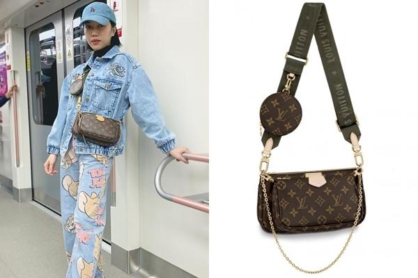 Louis Vuitton cũng là thương hiệu thời trang được Diệu Nhi yêu thích. Trong chuyến du lịch mới đây, nữ diễn viên diện set đồ denim khỏe khoắn, không quên điểm xuyết chiếc túiMulti Pochette - item được săn đón nhất trong mùa Thu - Đông 2019 của Louis Vuitton trịgiá khoảng 36 triệu đồng.