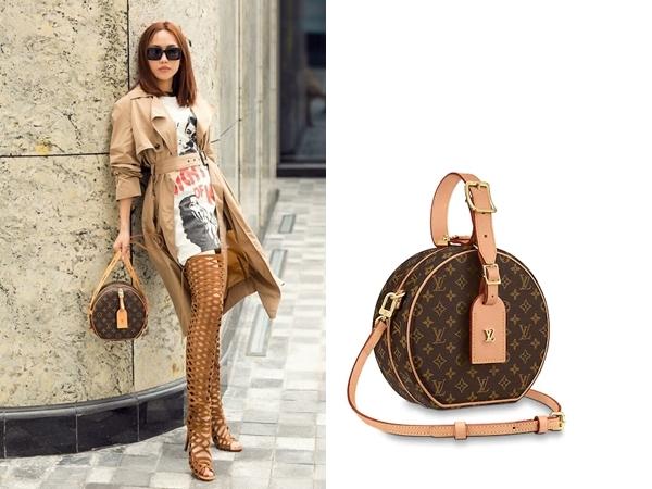 Tiếp tục là một thiết kế túi xách đến từ hiệu Louis Vuitton trị giá $4.450 (103 triệu đồng) được Diệu Nhi trưng dụng. Bộ cánh thời thượng dường như thêm phần bắt mắt khi được điểm xuyết phụ kiện đồng điệu về màu sắc.