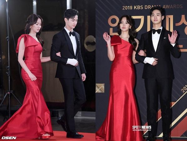 Jang Dong Yoon và Kim So Hyun đã nhận được giải Cặp đôi đẹp nhất tại lễ trao giải Phim truyền hình KBS.