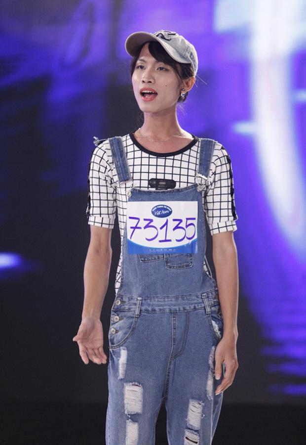 Hoài Sa thời điểm đi thi 'Vietnam Idol 2015'.