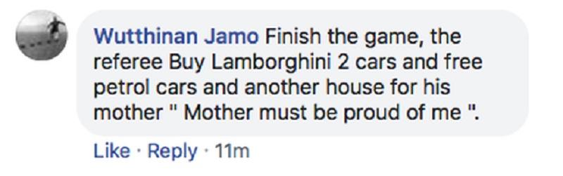 'Kết thúc trận đấu, trọng tài có thể mua 2 chiếc Lamborghini và một ngôi nhà cho mẹ'