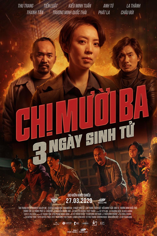 Thu Trang, Tiến Luật, Kiều Minh Tuấn 'so găng' cực gắt trên teaser poster mới vừa được ra lò của 'Chị Mười Ba: 3 ngày sinh tử' 0