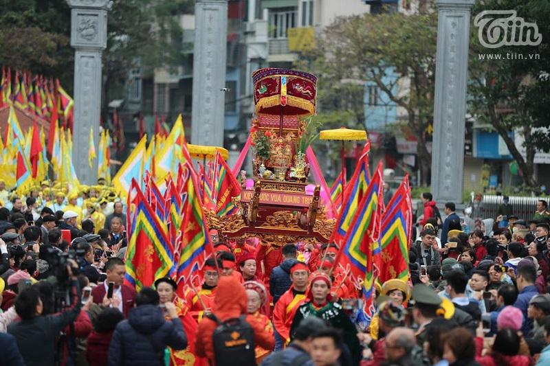Lễ hội gò Đống Đa có sự tham gia của hàng nghìn người
