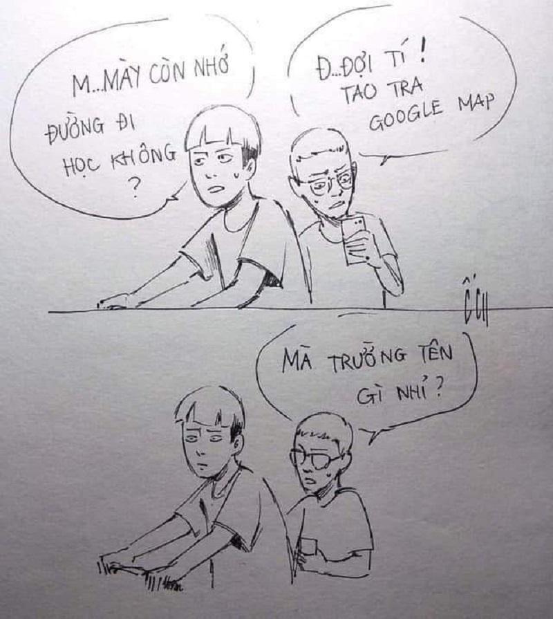 Bức ảnh hài hước phản ánh đúng tâm lý chung của hầu hết học trò sau kỳ nghỉ lễ (Ảnh: Group Trường Người Ta)