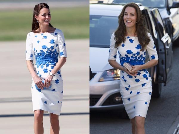 Chiếc váy hoa này là một trong những yêu thích nhất của cô. Middleton đã mặc chiếc váy LK Bennett này vào năm 2014 và một lần nữa vào năm 2016.