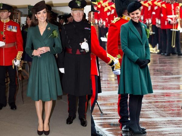 Chiếc áo khoác từ thương hiệu Emilia Wicksteadlà một lựa chọn hoàn hảo kể cả khi đó là mùa hè nóng bức hay mùa đông lạnh lẽo.Việc kết hợp với chiếc mũ đen giúp Công nương trở nên nổi bật và thu hút với sự tinh tế của mình hơn.