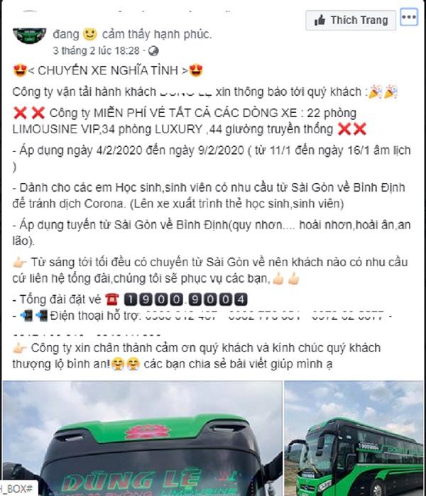 Chuyến xe nghĩa tìnhchở sinh viên từ Sài Gòn về Bình Định