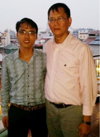 Hai tác giảKiều Trường Lâm (trái) và Trần Tư Bình.