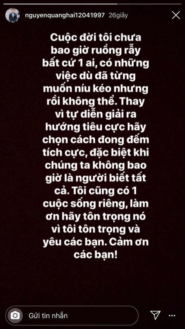 Lần hiếm hoi Quang Hải nói về chuyện ruồng bỏ Nhật Lê.