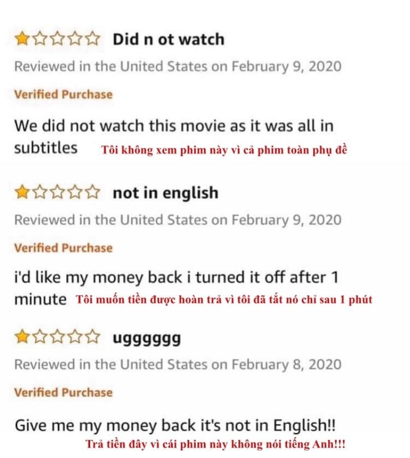 Người Mỹ ồ ạt xem 'Ký sinh trùng' hậu Oscar và đòi hoàn tiền, chấm 1 sao 1