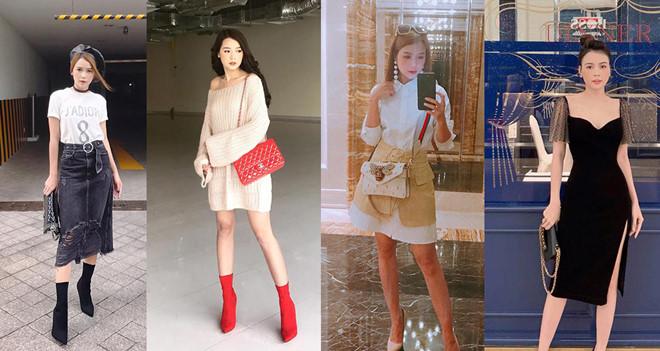 Sam sở hữu nhiều túi xách, giày,..thương hiệu có giá cao ngất ngưởng.