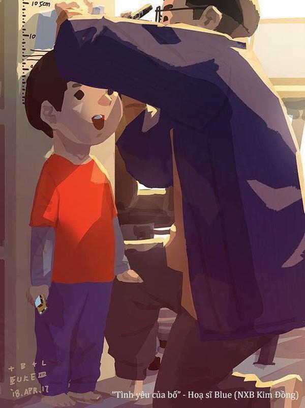Lớn lên mới biết, bố đo chiều cao mỗi ngày vì mong con mình cao lớn tới nhường nào!
