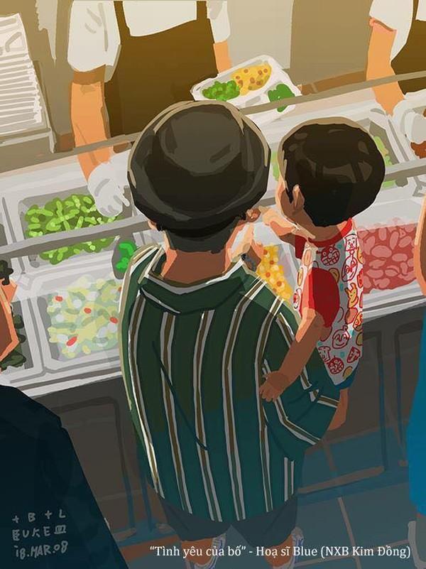 Bố dẫn con đi siêu thị, và con thích ăn gì bố đều sẽ mua hết!