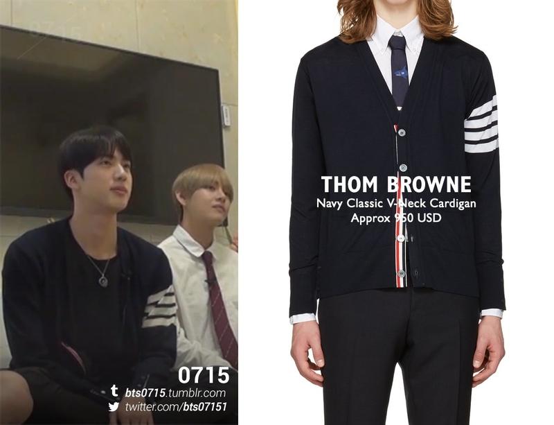 Nhìn sơ qua bạn có đoán được cái áo khoác này của anh cả BTS có giá đến tận 950 USD hay không?