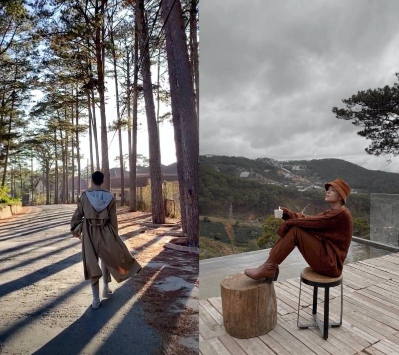 Keibin Lei đang vi vu tại Đà Lạt, hình ảnh anh chụp rất giống với khung cảnh xung quanh căn biệt thự của Tóc Tiên.