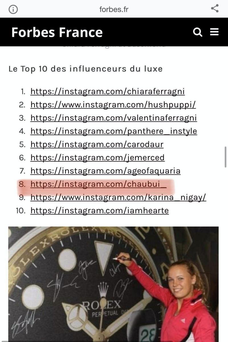 Cái tên Châu Bùi nằm 'chễm chệ' trên bảng danh sách Top 10 của Forbes France.