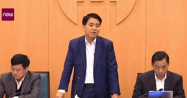 Chủ tịch UBND TP Hà Nội Nguyễn Đức Chung tại phiên họp