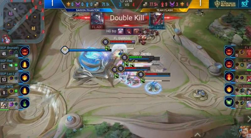 Team Flash tràn vào như thế chẻ tre khiến SGP những phút cuối khó lòng chống đỡ