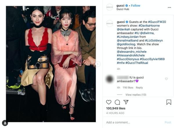 Gucci công bố đại sứ mới qua IG.