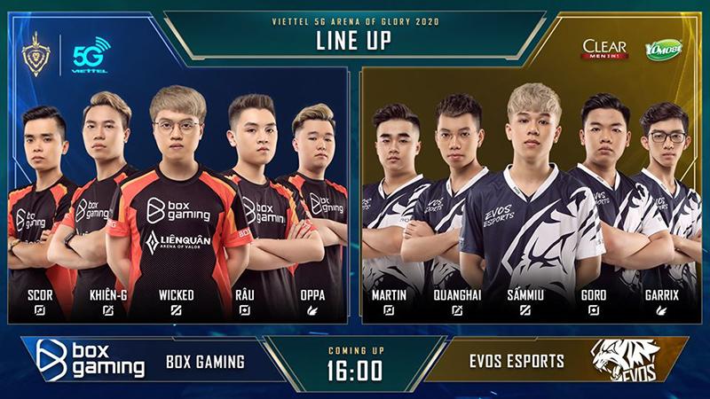 Đội hình ra quân của BoxGaming và Evos Esports