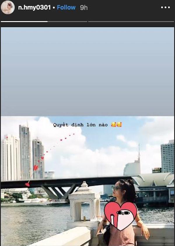 Động thái mới nhất từ vị trí của bạn gái Quang Hải.