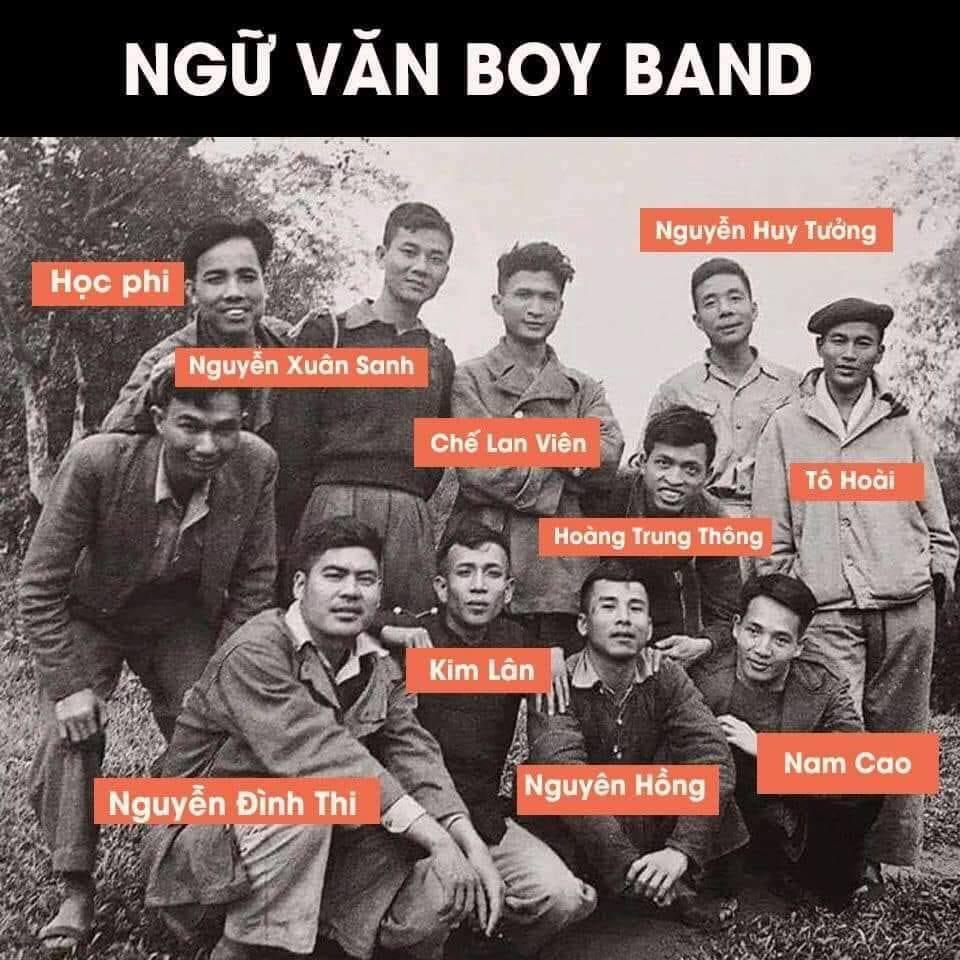 'Ngữ Văn boy band' quy tụ dàn nhà văn, nhà thơ nổi tiếng của nền văn học Việt Nam.