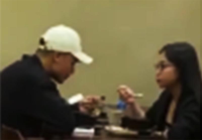 Quang Hải đưa Nhật Lê đi ăn khuya và trò chuyện rất thân thiết