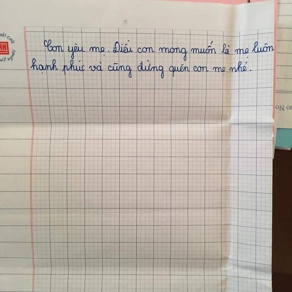 Nội dung bức thư vô cùng xúc động bé gái lớp 5 gửi mẹ