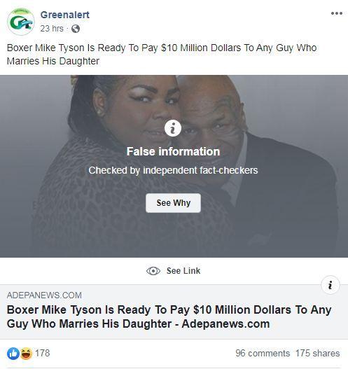 Huyền thoại Mike Tyson tuyển chồng cho con gái, hồi môn 230 tỷ: Chỉ là tin vịt! 2