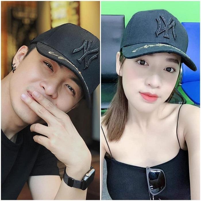 Puka và Gin Tuấn Kiệt dùng nhiều đồ đôi như mũ, mắt kính, đồng hồ...