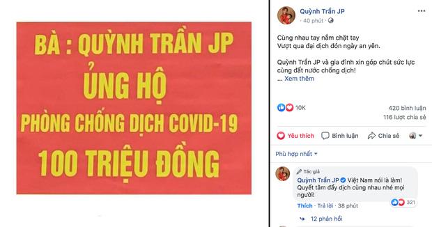 Hành động đầy ý nghĩa, hướng vềquê hương Việt Nam củaQuỳnh Trần JP đã làm nhiều người xúc động.