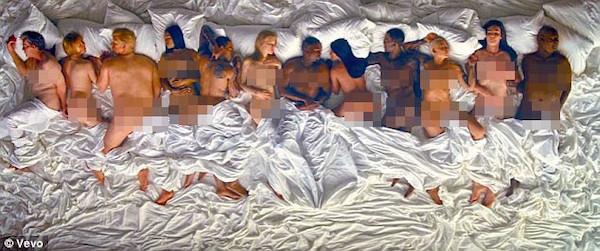 MV Famous của Kanye West cũng chứa hình ảnh phản cảm về Taylor Swift.