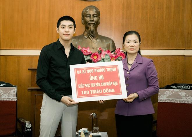 Noo Phước Thịnh quyên góp 200 triệu chống dịch Covid-19, 100 triệu giúp miền Tây chống hạn mặn 1