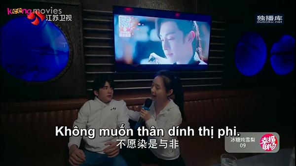 Để giúp cô bạn giải sầu, Lê Ngữ Băng đã dẫn Đường Tuyết đi hát karaoke và được thưởng thức giọng hát 'đầy nội lực' của cô nàng