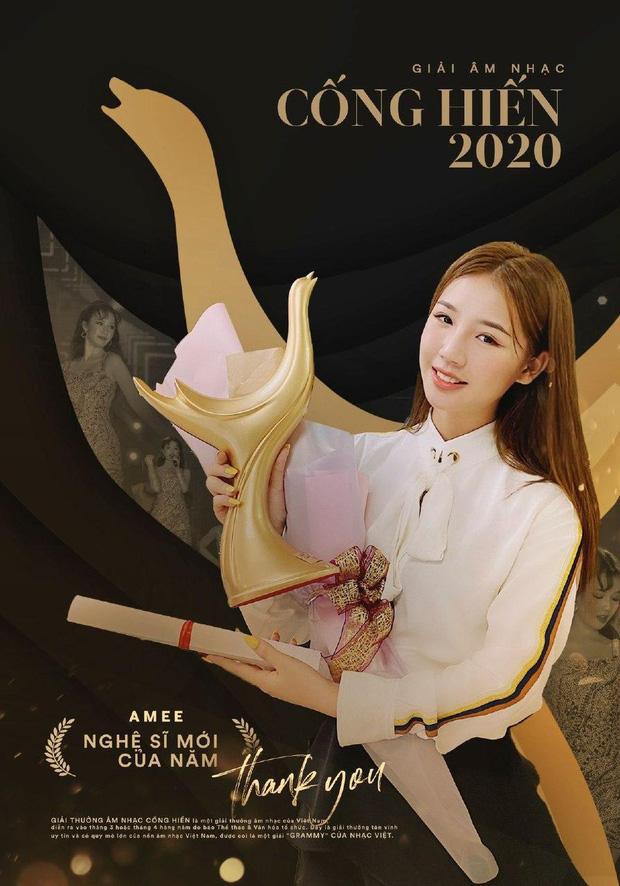Cống hiến 2020: Hoàng Thùy Linh thắng áp đảo với 4 hạng mục, Amee nhận giải tân binh của năm 2