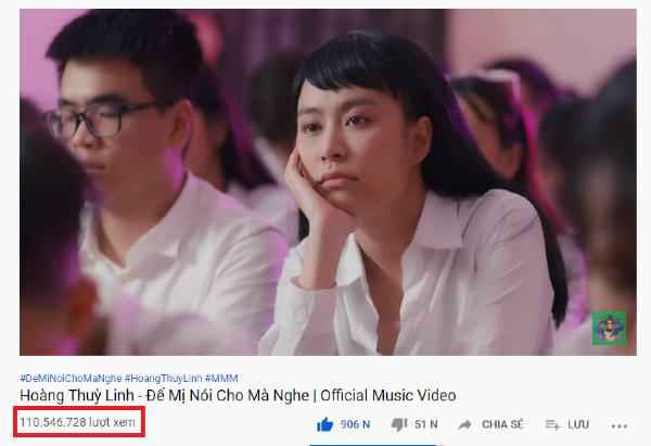 MV 'Để Mị nói cho mà nghe' hiện đã đạt hơn 110 triệu lượt xem trên Youtube.