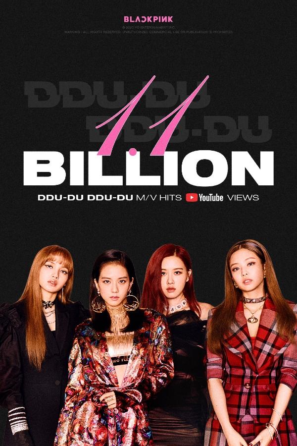 Black Pink là nhóm nhạc đầu tiên tại Hàn Quốc sở hữu MV vượt mốc 1.1 tỉ lượt xem.