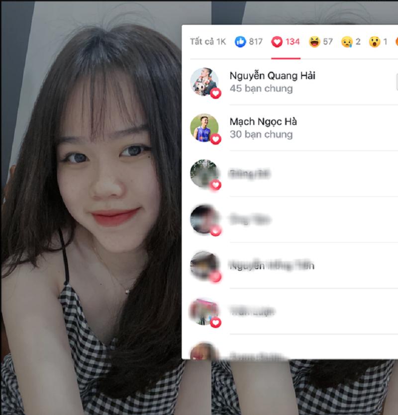 Quang Hải chăm chỉ thả tim ảnh cô gái khác