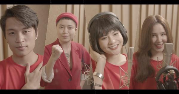 Các ca sĩ trong MV Việt Thắng Idol,Ý Tiên, BảoYến Rosie, Yến Tatoo
