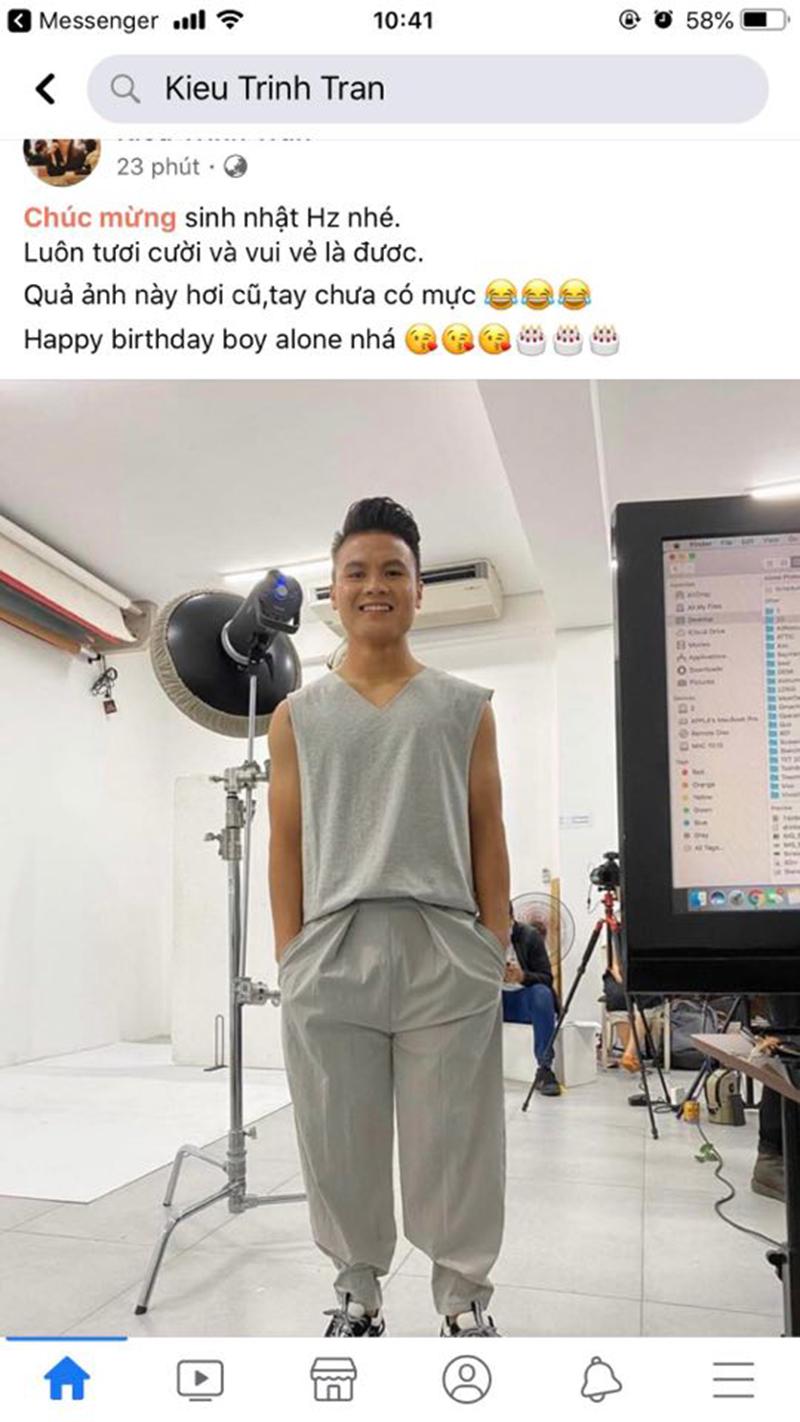 Lời chúc mừng sinh nhật Quang Hải từ tài khoản Kieu Trinh Tran
