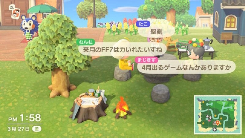 Trò chơi Animal Crossing.