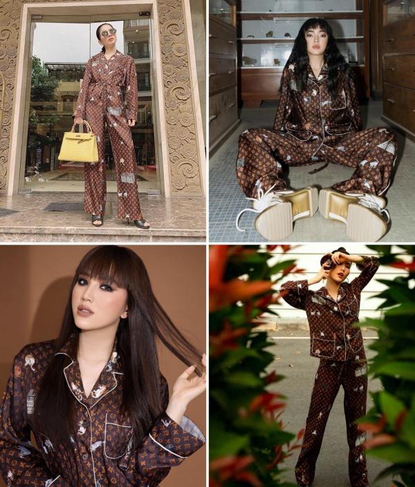 Bạn thấy ai mặc pyjama hàng hiệu đẹp hơn?