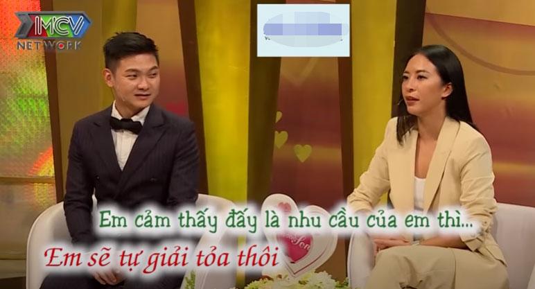 Hana Giang Anh thoải mái chia sẻ chuyện giường chiếu của hai vợ chồng.