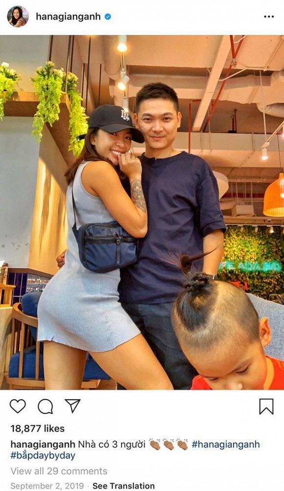 Gia đình hạnh phúc của Hana Giang Anh.